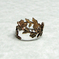 Forest Leaf Spray Ring band