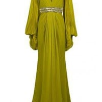 Pleated Sleeve Gown - Dresses - Clothing - Womens