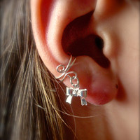 Ear Cuff, Dainty and Feminine Silver Ear Cuff with Super Cute Mini Silver Bow Charm