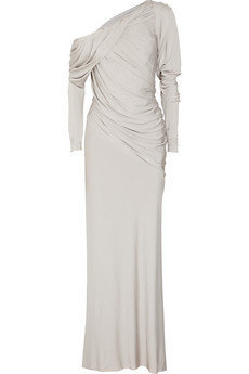 Donna Karan | Draped stretch-jersey gown | NET-A-PORTER.COM