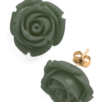 Retro Rosie Earrings in Olive | Mod Retro Vintage Earrings | ModCloth.com