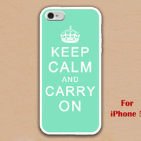iPhone 5 Case, keep calm and carry on iphone 5 case, mint green iphone 5 case, case for iphone 5