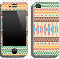 Buy 2 get 1 free - Aztec pattern Iphone 4, 4s skin cover (s104)