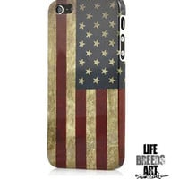 Vintage American Flag Hard Case for iPhone 5 | LIFE BREEDS ART