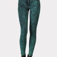 In living Color High Waisted Jeans - Jade  at Necessary Clothing