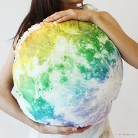 The Full Moon hug cushion, NOCTURN BY MOON  (rainbow full moon pillow-50cm)