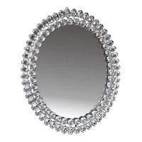 Oval Wall Mirror Diamante | DotComGiftShop