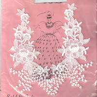 Vintage white bridal venice lace applique for by TrimsNmore