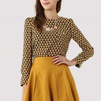 Triangle Pattern Chiffon Top - New Arrivals - Retro, Indie and Unique Fashion