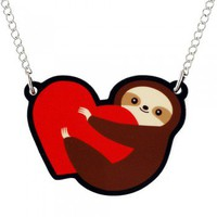 Handmade Gifts | Independent Design | Vintage Goods Sloth Love Necklace - New Arrivals
