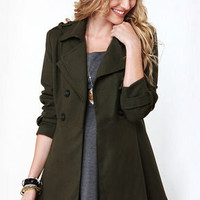 Undercover Lover Army Green Trench Coat