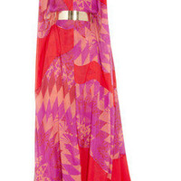Matthew Williamson|Printed silk-chiffon gown|NET-A-PORTER.COM