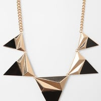Sliced Triangle Necklace