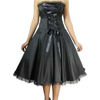 Corset Ribbon Lace Dress