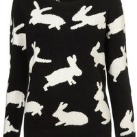 Knitted Jumping Bunny Jumper - New In This Week  - New In