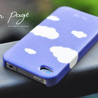 Apple iphone case for iphone iphone 4 iphone 4s iphone 3Gs : Violet (Purple) sky with white clouds