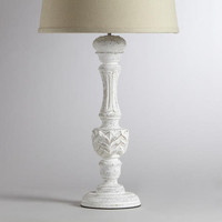 Klara Antique Candlestick Table Lamp Base | World Market