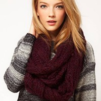 ASOS Textured Knit Snood at asos.com