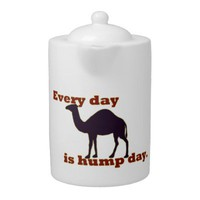 Every Day is Hump Day Porcelain Teapot from Zazzle.com