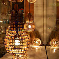 Wooden Bulb Hanging Light by The Junk Gypsy Co.