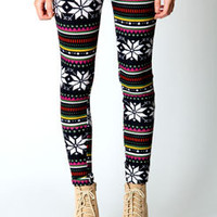 Olivia Fairisle Print Brushed Knit Leggings