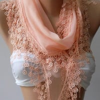 Scarf  Cotton - Soft - Elegance Scarf....Salmon pink...Super soft