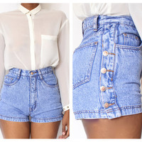 High Waist Button up Side Shorts size S