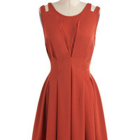 Awe in Auburn Dress | Mod Retro Vintage Dresses | ModCloth.com