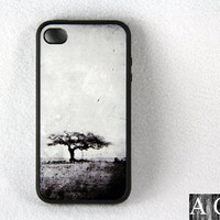 Grunge Africa iPhone 4 and iPhone 4S Case,Rubber Material Full Protection
