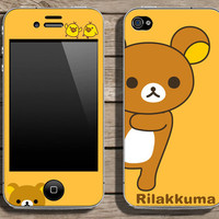 Buy 2 get 1 free - Rilakkuma - cellphone skin (s102)