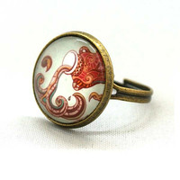 10% SALE - Ring Aquarius Jewelry Astrological Signs and Symbols Circle Shape Special Jewelry