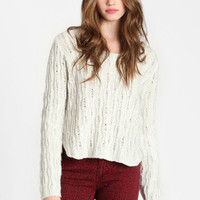 Arctic Desires Wave Knit Sweater - $52.00: ThreadSence, Women's Indie & Bohemian Clothing, Dresses, & Accessories