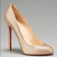 Christian Louboutin Glitter Pumps [2010100613] - &amp;#36;215.00 : Christian Louboutin Shoes On Sale, Enjoy 75% Off The Shoes Outlet!