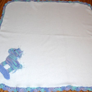 Crochet Rocking Horse Baby Blanket Only New Crochet Patterns