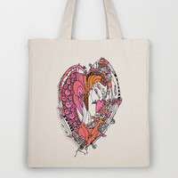 Anatomy Of a Heart Tote Bag by Ingrid Padilla  | Society6
