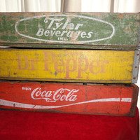 Coke Soda Box Crate Coca Cola Wood by bluebonnetfields on Etsy
