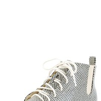 C Label Emmah16 Beige Fishnet Print Flat Ankle Booties shop Boots at MakeMeChic.com
