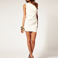 ASOS | ASOS One Shoulder Dress with Drape Front at ASOS