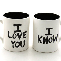 Star Wars (R) Han Solo and Leia  Mug Set for Wedding or Anniversary