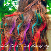 Hair Wear Makeup-100% Natural Ingredients. Get colorful hair without harsh chemicals, hair chalk or the use of hair extensions