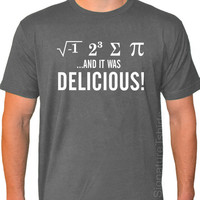I Ate Some Pie and it was DELICIOUS Eight Sum Pi Math Mens Womens T-shirt American Apparel tshirt shirt S-2XL more colors
