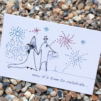 A6 Wedding Fireworks Card (anonymit.. on Luulla
