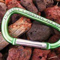 Personalized Hand-Stamped Carabiner- Groomsmen, Mens Gift, Father's Day, Couple's Gift- Keychain, stocking stuffer