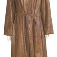 70s Vintage Full Length Brown Leather Coat by NeldasVintageClothing.com