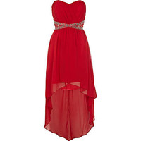 Red Little Mistress bandeau grecian dress