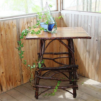 Rustic Alder Bentwood Side Table