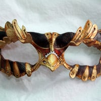 Made to Order -- SteamOwlet Leather Steampunk Owl Cosplay Mask