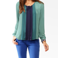 Colorblocked Pleats Top