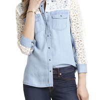 Chambray & Lace Buttondown