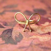 14k Gold Filled Bow Ring